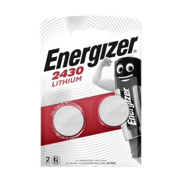 Piles électroniques CR2430 ENERGIZER - Blister de 2 - Lithium 3V