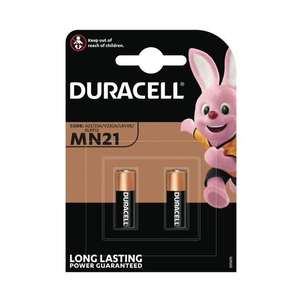 Piles 23A DURACELL - Blister de 2 - MN21 - Alcaline 12V