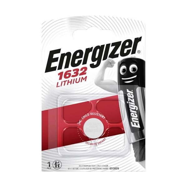 Pile électronique CR1632 ENERGIZER - Blister de 1 - Lithium 3V