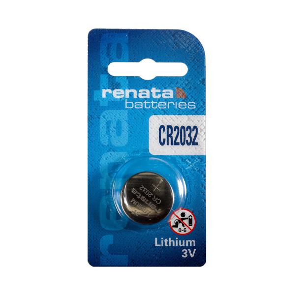 Pile électronique CR2032 RENATA - Blister de 1 - Lithium 3V