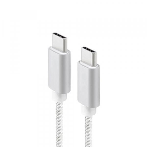 Câble renforcé USB 3.1 Type C M/M - 10 Go/s - 1 m - Blanc