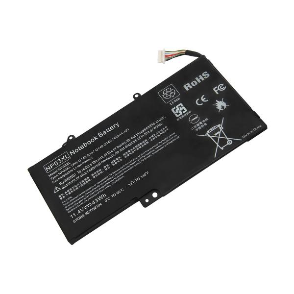 Batterie NP03XL pour HP Pavilion x360 13-a / x360 13-s / Envy 15-u - 11,4 V / 3500 mAh