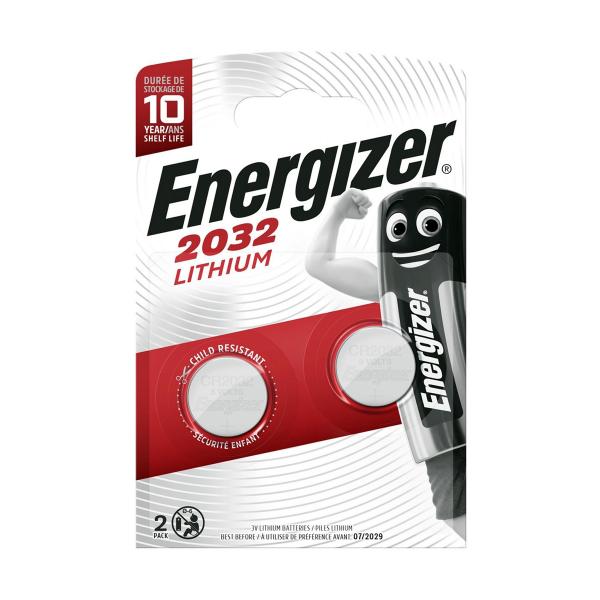 Piles électroniques CR2032 ENERGIZER - Blister de 2 - Lithium 3V