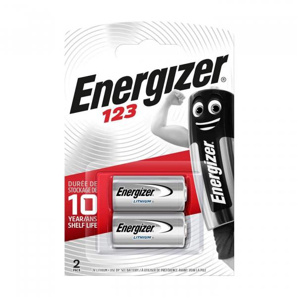 Pile photo CR123 ENERGIZER - Blister de 2