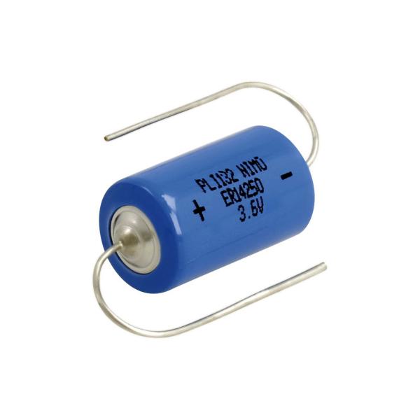 Pile ER14250 EUROPA - Pattes à souder - LS14250 - CR1/2AA - SL750 - Lithium 3,6V - 1,2 Ah