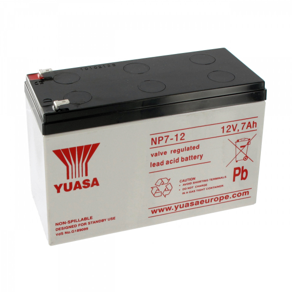 Batterie au plomb YUASA - 12V - 7Ah - NP7-12