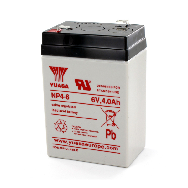 Batterie au plomb YUASA - 6V - 4Ah - NP4-6