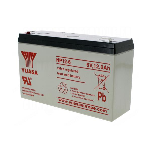 Batterie au plomb YUASA - 6V - 12Ah - NP12-6