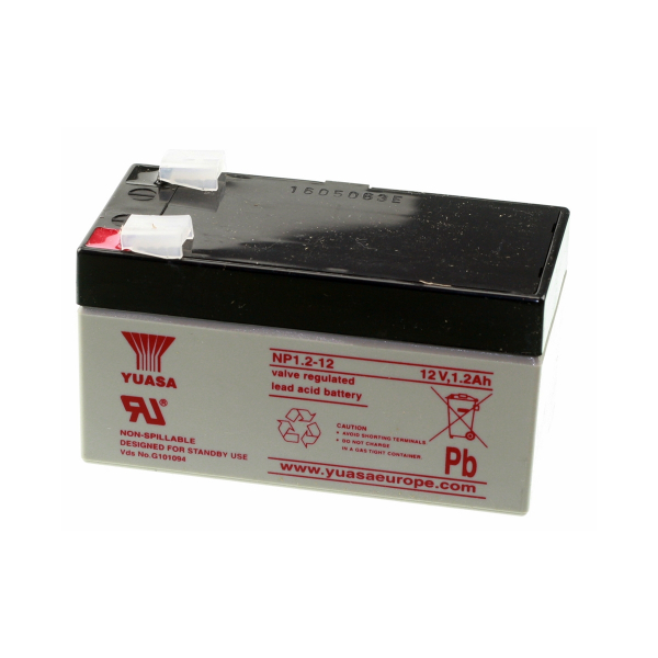 Batterie au plomb YUASA - 12V - 1.2Ah - NP1.2-12