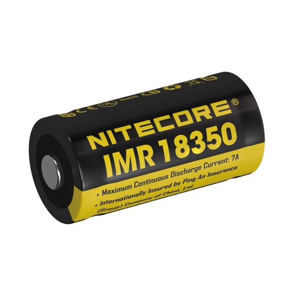 Accu 18350 NITECORE - Blister de 1 - Lithium 3,7V - 700mAh - Sans protection
