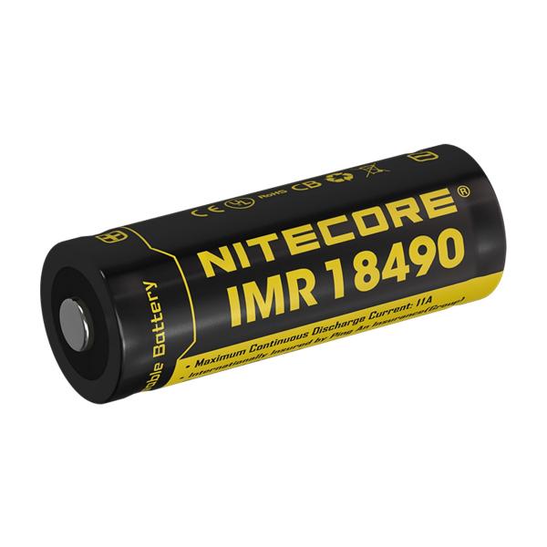 Accu 18490 NITECORE - Blister de 1 - Lithium 3,7V - 700mAh - Sans protection