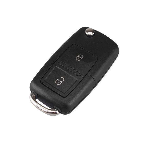 Boitier de télécommande - Clé Plip 2 boutons - VOLKSWAGEN - Bora / Golf 4-5-6 / Passat / Polo / Touran