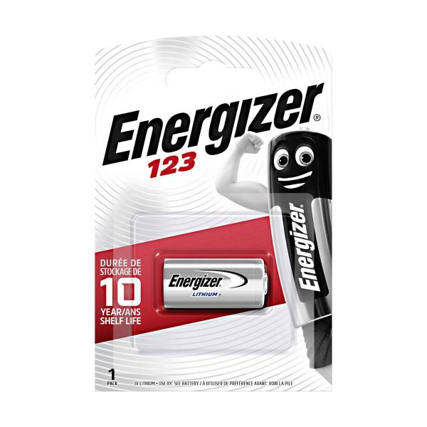 Pile photo CR123 ENERGIZER - Blister de 1