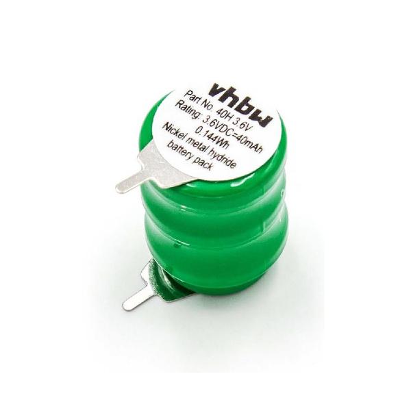 Accu 40H 3,6V VHBW - Pattes à souder - Ni-Mh / 40mAh