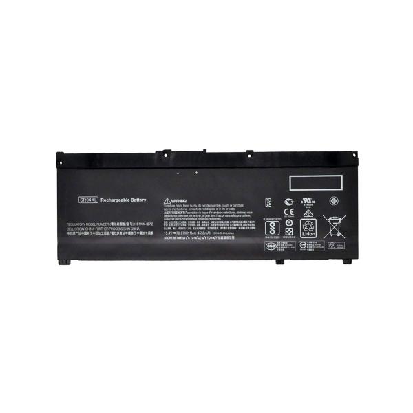 Batterie SR04XL pour HP Omen 15-ce0xx / 15-ce5xx / Pavilion 15-ce0xx - 15,4 V / 3400 mAh