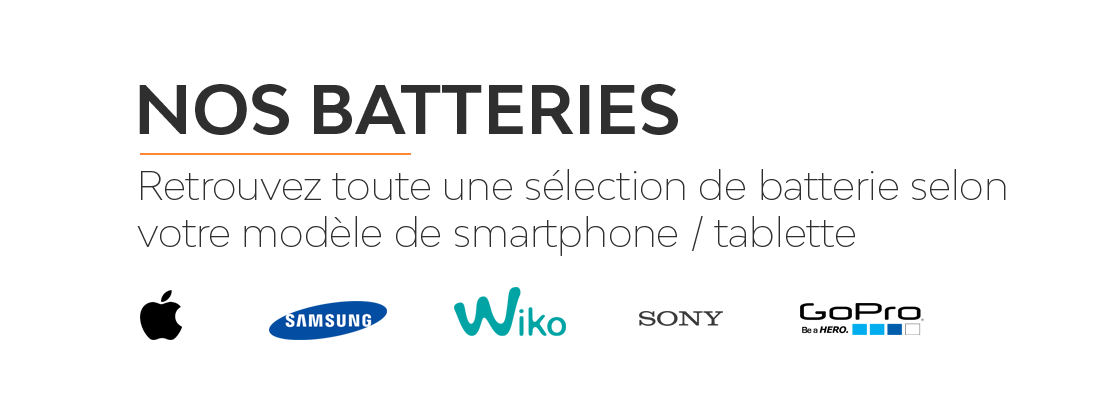 Toute une sélection de batteries pour vos smartphones et tablettes