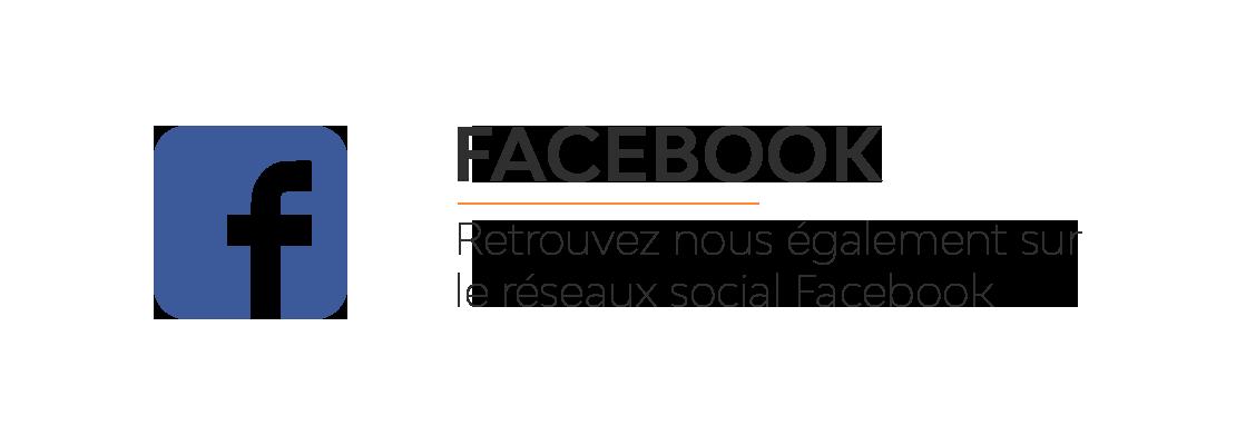 Retrouvez nous également sur Facebook